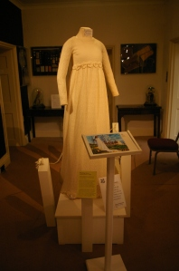 A knitted wedding dress from the 1970's.