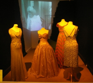 A selection of dresses from the historic collection at Killerton.
