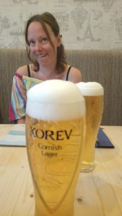 Enjoying a Cornish Beer at The New Inn in Tywardreath