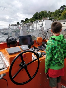 Visiting the Lifeboat on Fowey River